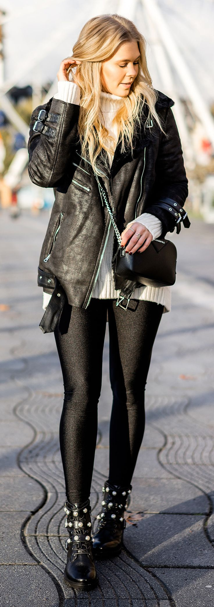 Biker Boots with Pearls w / Sacha Shoes – Fashion Blog »Sunnyinga