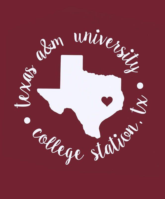 Love Texas A&M Circle Decal