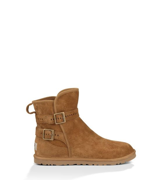 Newest UGG Australia Leni Brown Womens Ankle Boots Outlet UK1589