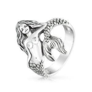 Sterling Silver Mermaid Ring $49.99 www.MermaidGardenOrnaments.com