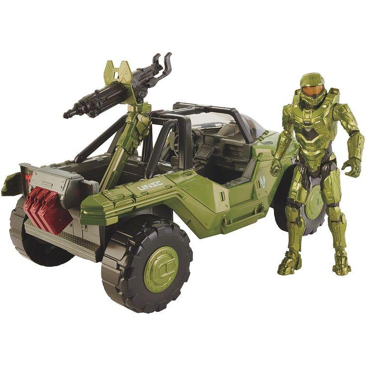 Halo Warthog Vehicle & Master Chief Set by Mattel, Multicolor