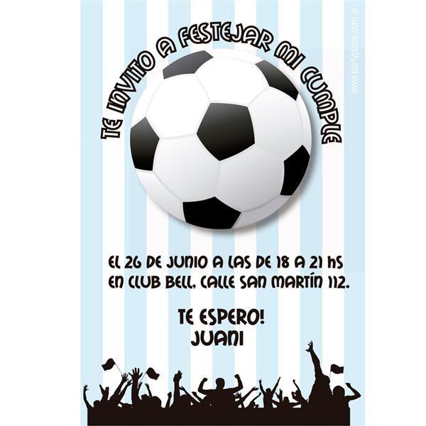 Invitaciones para fiesta infantil de futbol buscar con - Housse de coussin 65 65 ...
