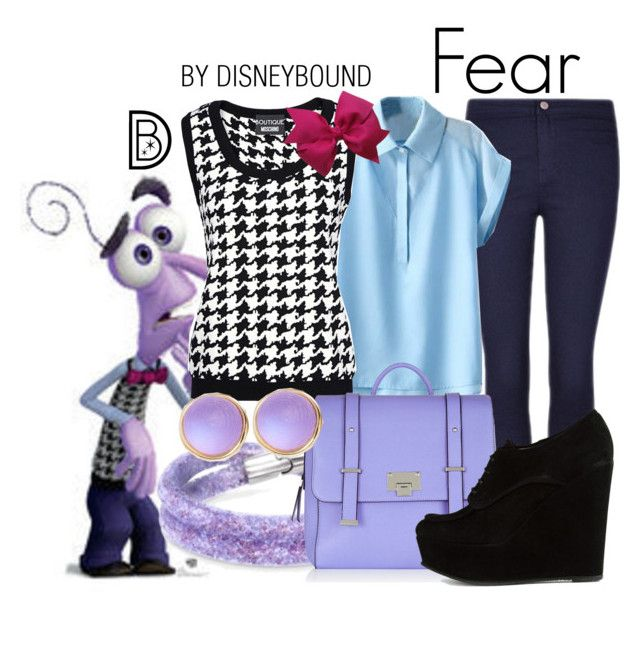 """Fear"" by leslieakay ❤ liked on Polyvore featuring Swarovski, Boutique Moschino, Opening Ceremony, Alexis Bittar, disney, disneybound and disneycharacter"