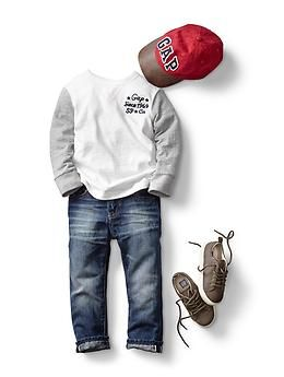 FALL 14 | Selvedge original fit jeans | toddler boy babyGap
