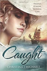 Caught: A Historical Romance designed by Elena Karoumpali (L1graphics) | DDD: A charming cover, on which the composition is first rate. Each element stands out incredibly well. ★