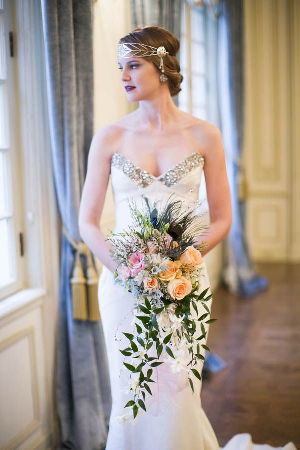 Swoon Worthy 1920s Wedding Inspiration At The Philips Hotel Weddingart Deco