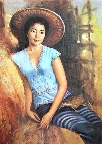 """Gadis Thailand"" by Basuki Abdullah, Medium: oil on canvas, Size: 76cm x 100cm"
