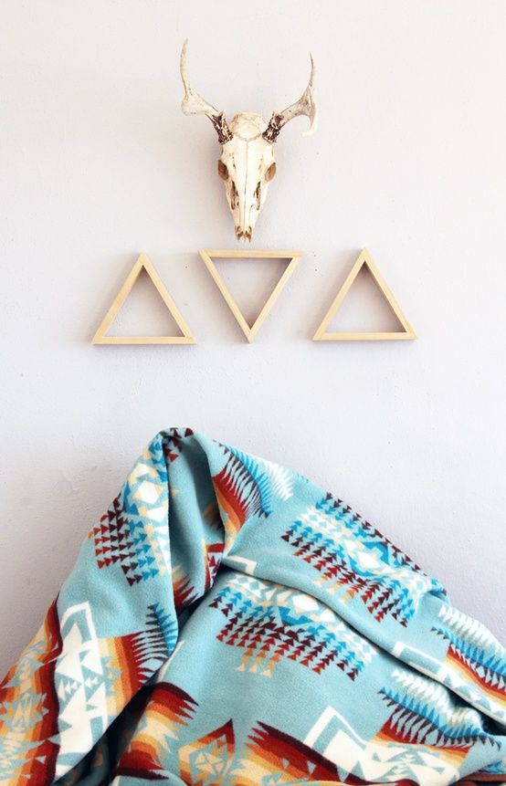 Pendleton Chief Joseph Blanket. Love the triangles on the wall.