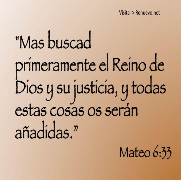 Primeramente el Reino de Dios y su Justicia...