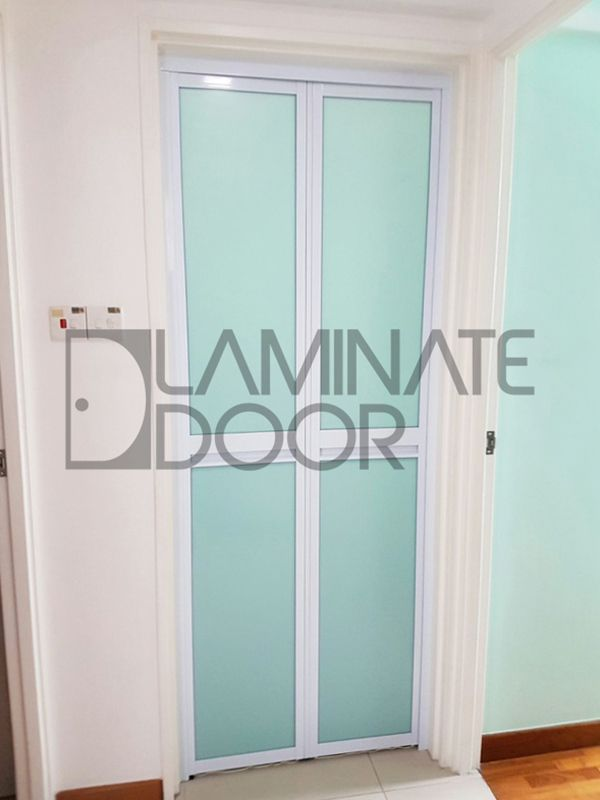 Aluminum Pvc Bi Fold Door Install For Hdb Bto Toilet Call 85220015 91773671 Ask For Free Onsite Quotation Today Toilet Door Bifold Doors Door Installation