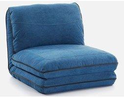 LaForma Fotel Rozkładany Moss niebieski - S205TE26