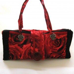 Handtas - rode rozen