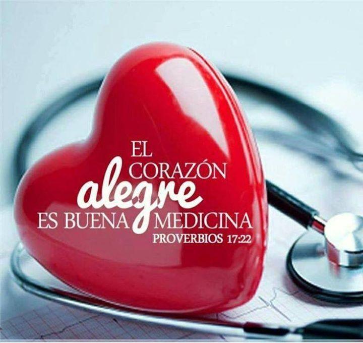 """""""El corazón alegre mejora la salud; el espíritu abatido seca los huesos"""" Proverbios 17:22 ¡Puedes elegir!"""