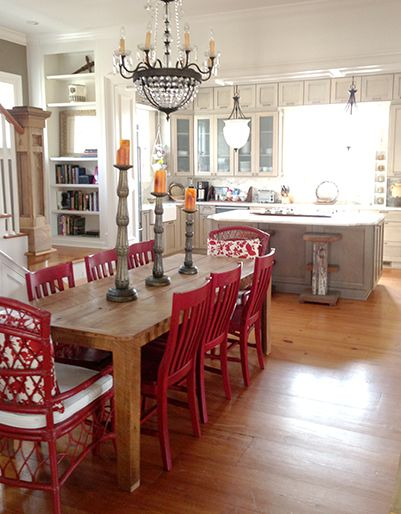 2008 Southern Living Idea House Dining Room Love The Open Dining Room And Kitchen Kitchen