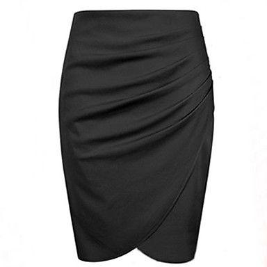 Mujeres Traje Nuevo Negocio lápiz de la manera de la falda del verano / otoño OL faldas para las mujeres la rodilla – USD $ 23.09