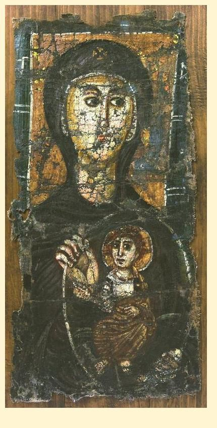 """This is an early Christian icon of the Madonna and Child, one of only eight that survived eighth-century iconoclasm. Seeing this newly discovered Madonna at the Temple Gallery in London led me to my love of icons. I had been afraid of them art-historically speaking, because they are so difficult to fit into a historical pattern. But this little icon showed me what they meant and how they transcend art history: they come from a different place and draw us to a different place."" ~ Sister…"
