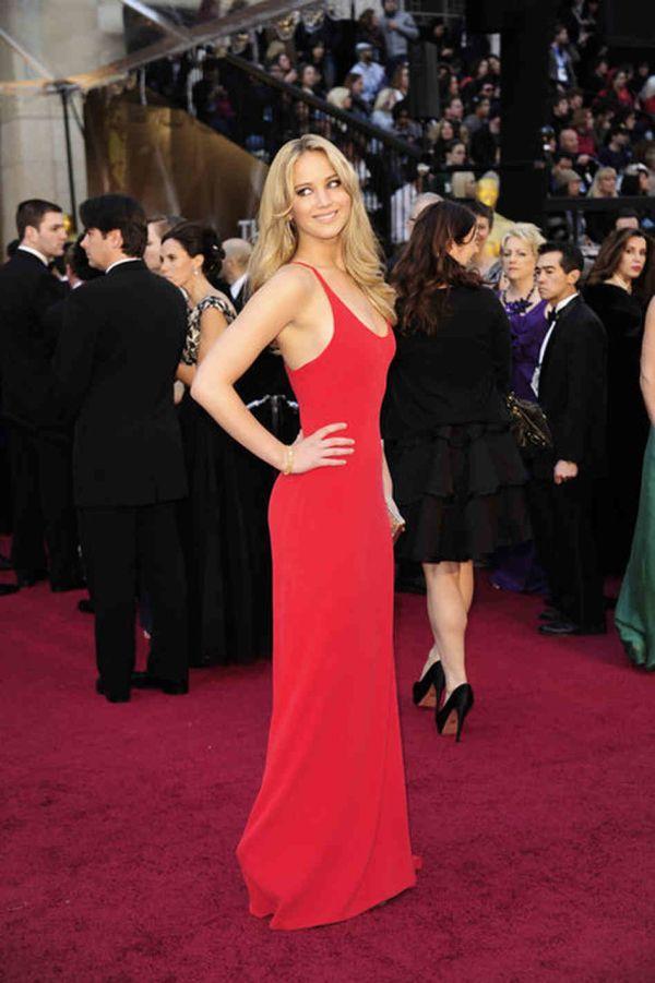 Jennifer Lawrence red dress .//. The Life