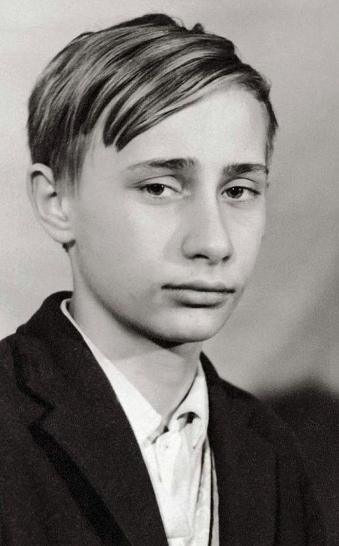 Vladimir Putin As A Young Teenager, 1966..0+ Surprising Photos Of Young World Leaders Before They Became Big