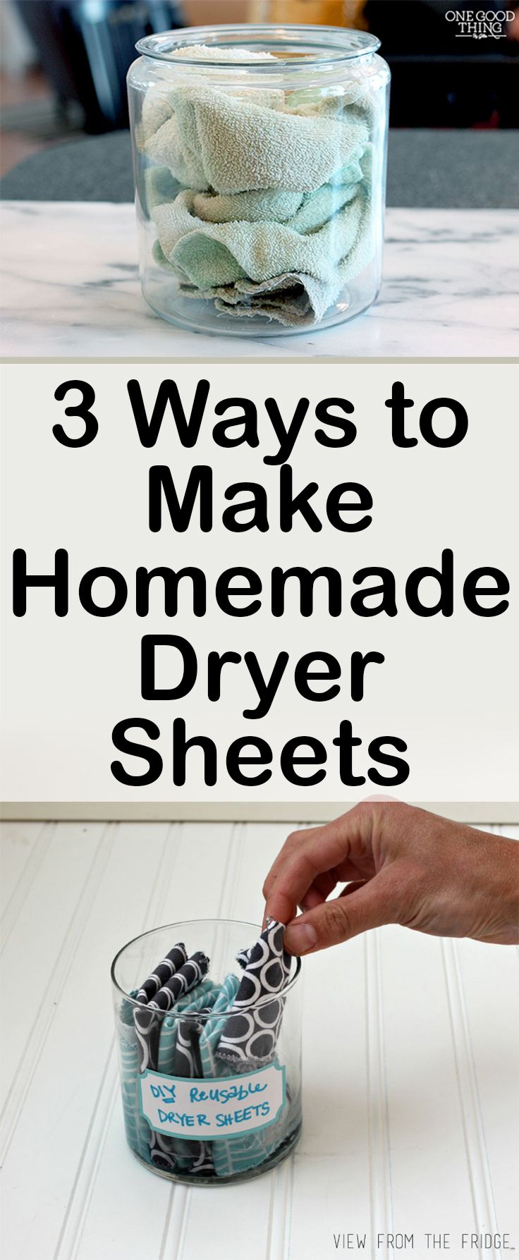 3 Ways to Make Homemade Dryer Sheets