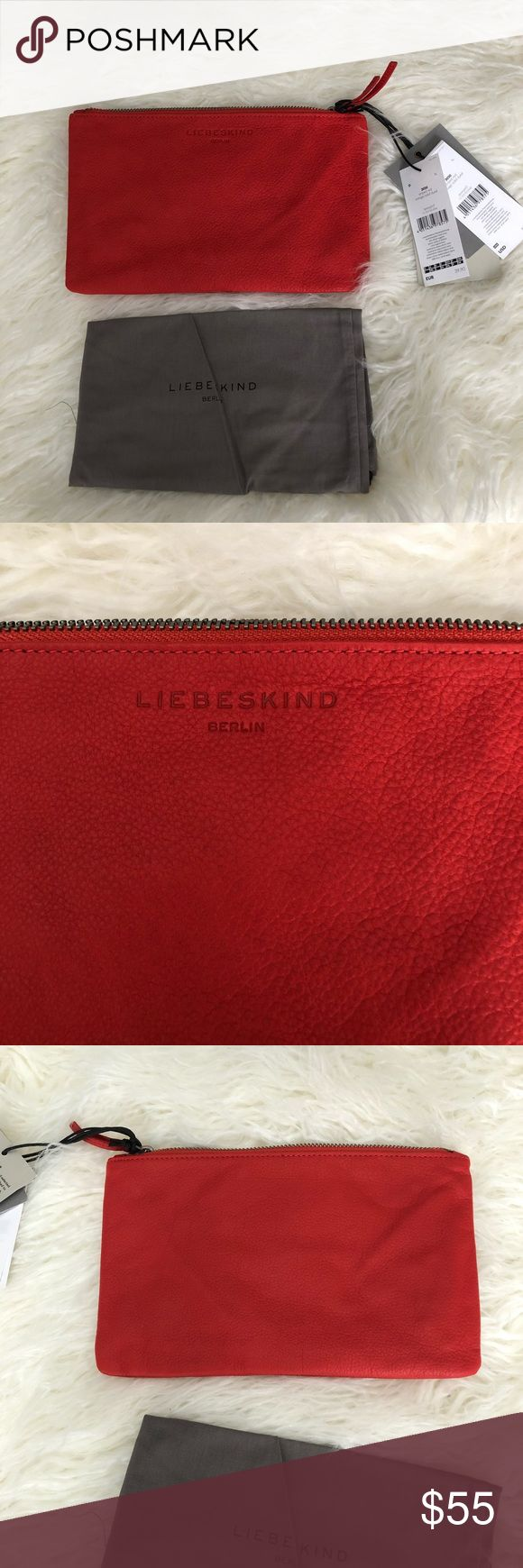 Leibeskind Berlin Leather Pouch New! Pebble leather - measures 9x6. Fabulous little pouch for all your necessities! Could be used as a clutch as well. Authentic. Comes with dust bag Liebeskind Bags Mini Bags