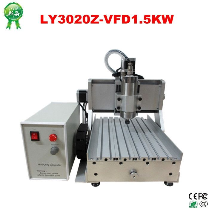 1130.00$  Watch now - http://aliyq8.worldwells.pw/go.php?t=32328981886 - No tax! hobby cnc milling machine 1.5KW VFD water cooling spindle CNC 3020 Z-VFD 3 axis cnc router,no need assemble 1130.00$