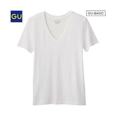 (GU)VネックT(半袖)A