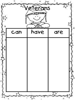 First Grade Wow: Veterans Day mini unit {Freebie}