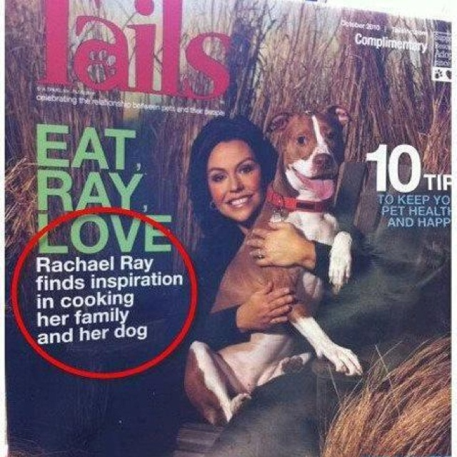 Rachael Ray finds inspiration in cooking her family and her dog (eats, shoots, and leaves)