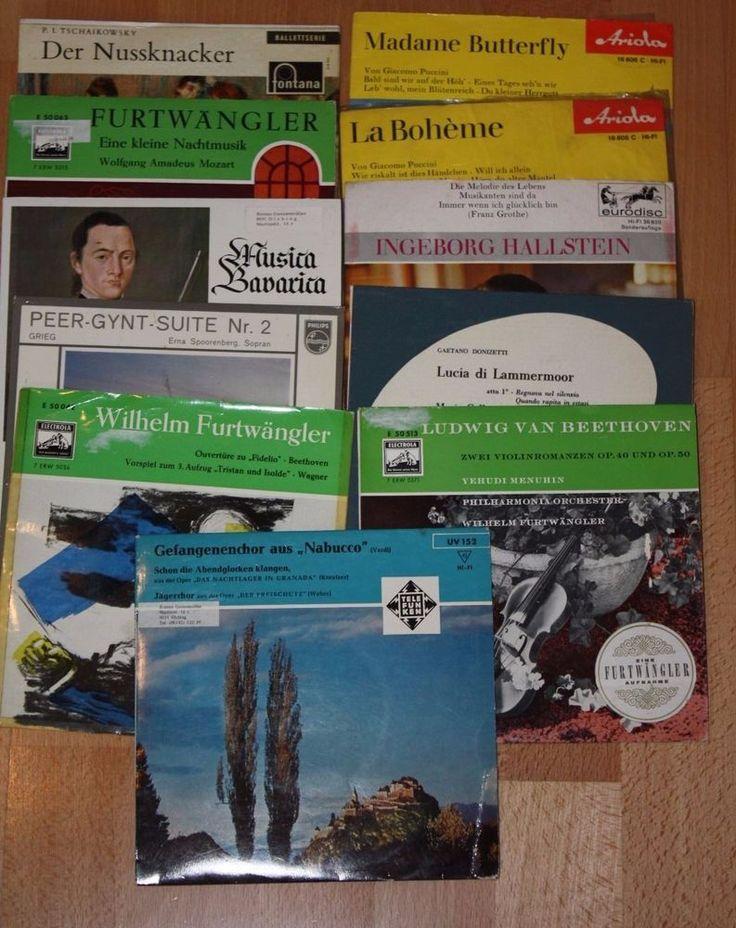 11x 7  Vinyl Collection KLASSIK Furtwängler Beethoven Tschaikowsky Puccini