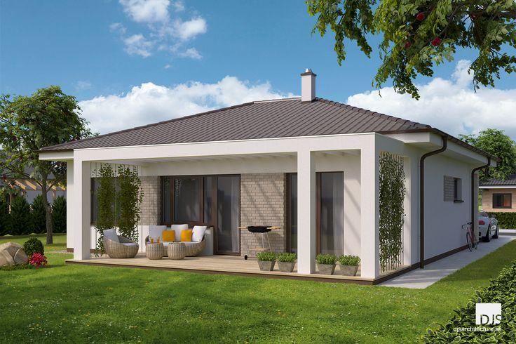 Projekt domu - O87 - Pohľad zo záhrady