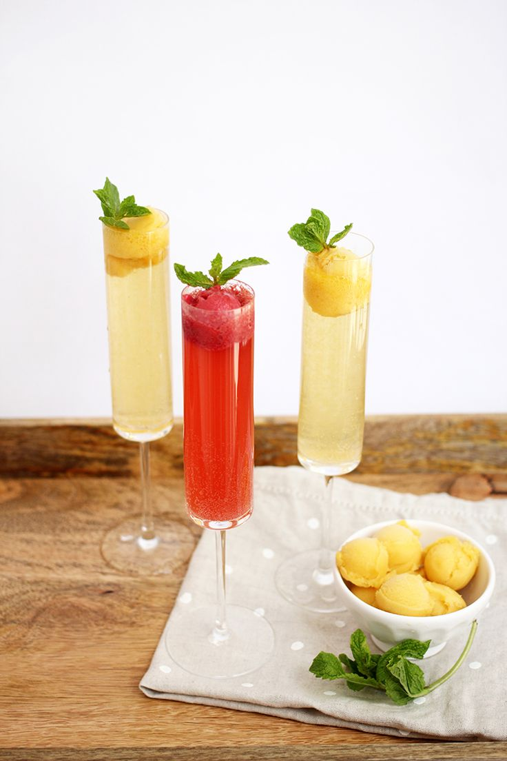 Champagne Sorbet Floats