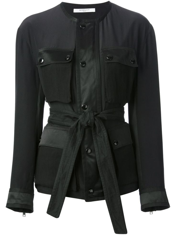 Givenchy Belted Jacket - Stefania Mode - Farfetch.com