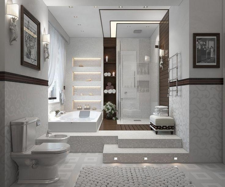 Imagenes baños con ducha y bañera preciosos Diseño de