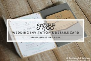 How to create Rustic Inspired Wedding Invitations + FREE Printable Templates | ahandcraftedwedding.com #rustic #wedding