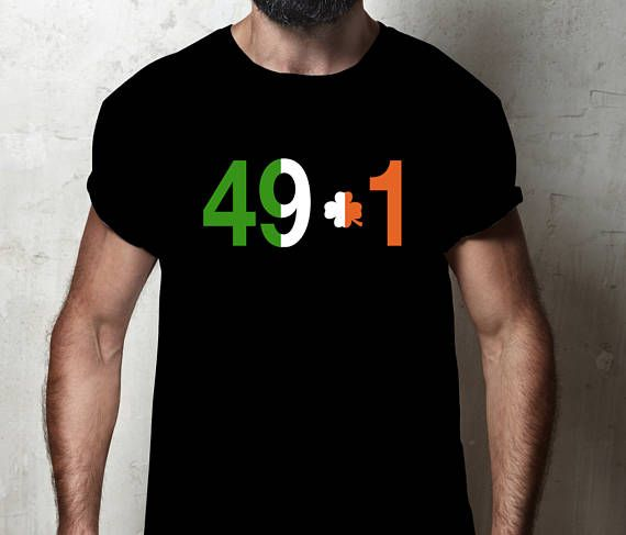 49-1 Irish McGregor Shirts, Clover T-Shirt, Men's Boxing vs UFC Clothes for Fitness & Exercise,  Be Notorious and Dethrone the Kin