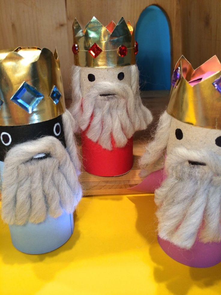 DIY Heilige Drei Könige aus Papprollen - Three Holy Kings by MiME - blog.hellomime.eu