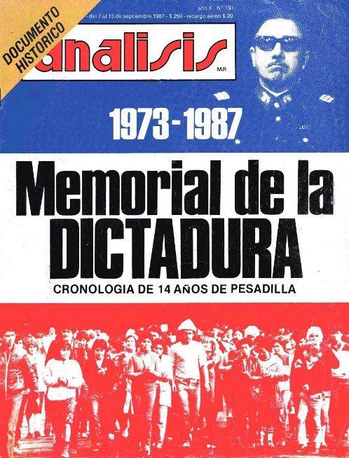 Revista Análisis: Memoria de la dictadura | Sala de Historia