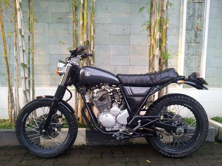 Yamaha Scorpio modif jap style hitam