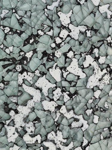 Davina Semo, pigmented reinforced concrete, wire glass, enamel paint (detail) •