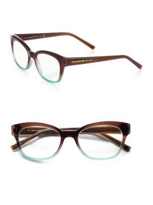 Kate Spade New York - Rebec Tortoise-Print Eyeglasses - Saks.com