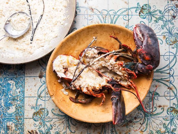 Smoky grilled lobster with a fragrant vanilla bean cream sauce.