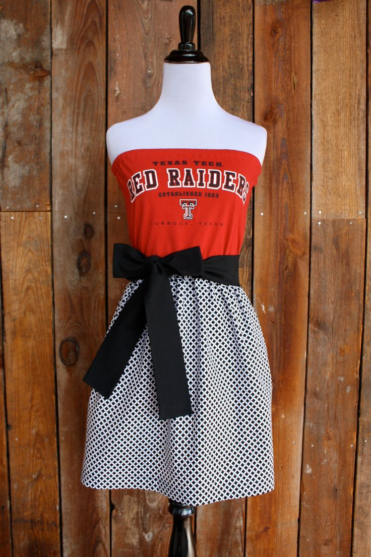 Texas Tech Red Raiders Strapless Game Day Dress - Size Small