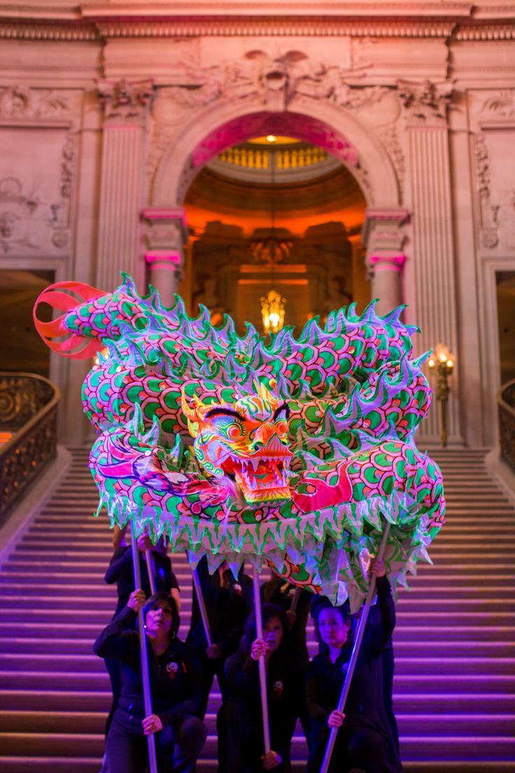 Chinese Dragon. San Francisco Symphony Chinese New Year 2015. Lighting Design by Got Light.