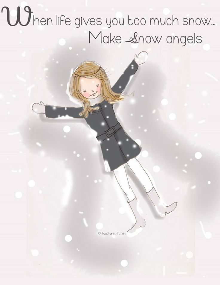The Heather Stillufsen Collection from Rose Hill Designs | When life gives you too much snow, make snow angels #HelloWinter