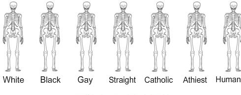 Human Perspective, Gay Black White Same, Remember This, Equality 3, So True, Bones Under Skin Art