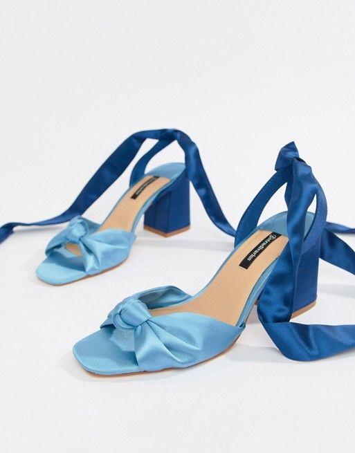23f09dfb64e Stradivarius wraparound block sandals | Wedding | Block sandals ...