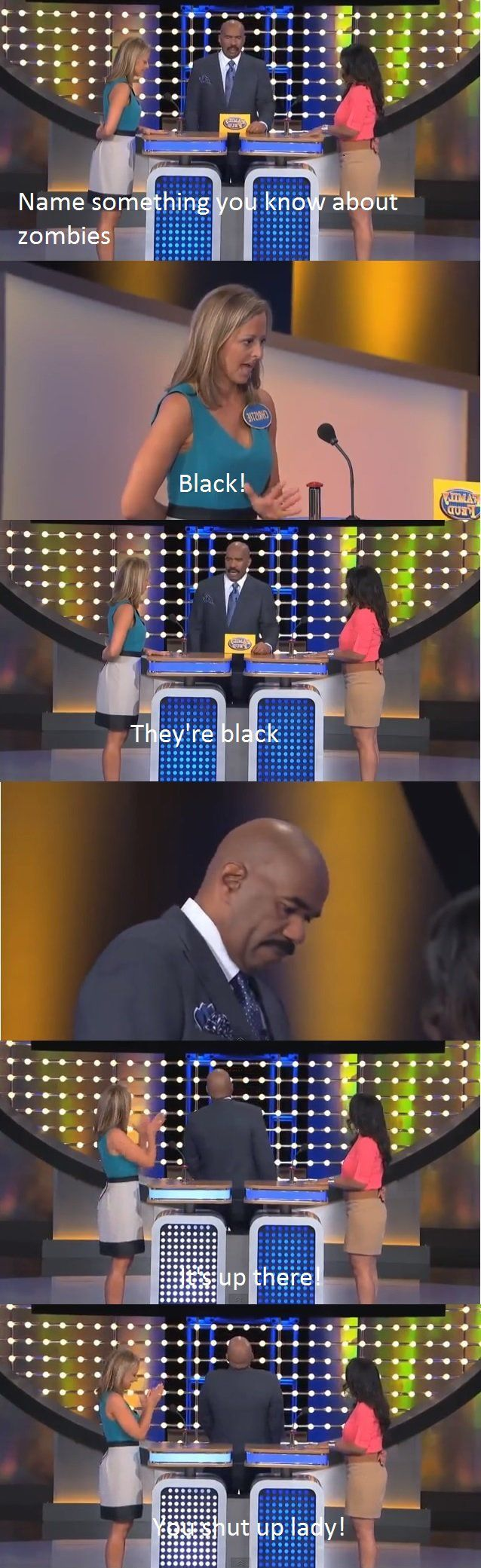 Family Feud on zombies - Funny Stuff This is too hilarious. Wow! Smh.