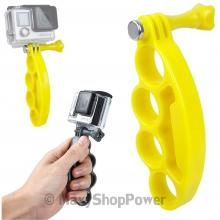 SUPPORTO SPORT MANO STAFFA PUGNO PALMARE YELLOW GIALLO PER GOPRO HD HERO 2 3 3+ 4 SILVER BLACK EDITION CAM SESSION - SU WWW.MAXYSHOPPOWER.COM
