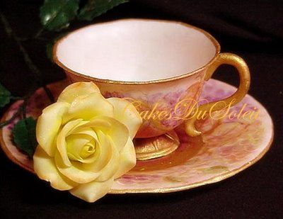 Edible teacup~ Sugar Teachers ~ Cake Decorating and Sugar Art Tutorials: How to Make a Gumpaste Teacup