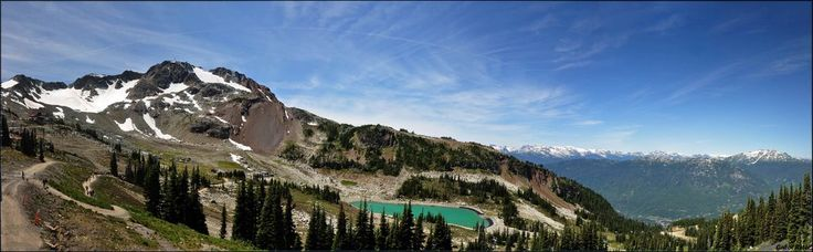 Panorama view of Whistler mountain, Whistler, BC, Canada